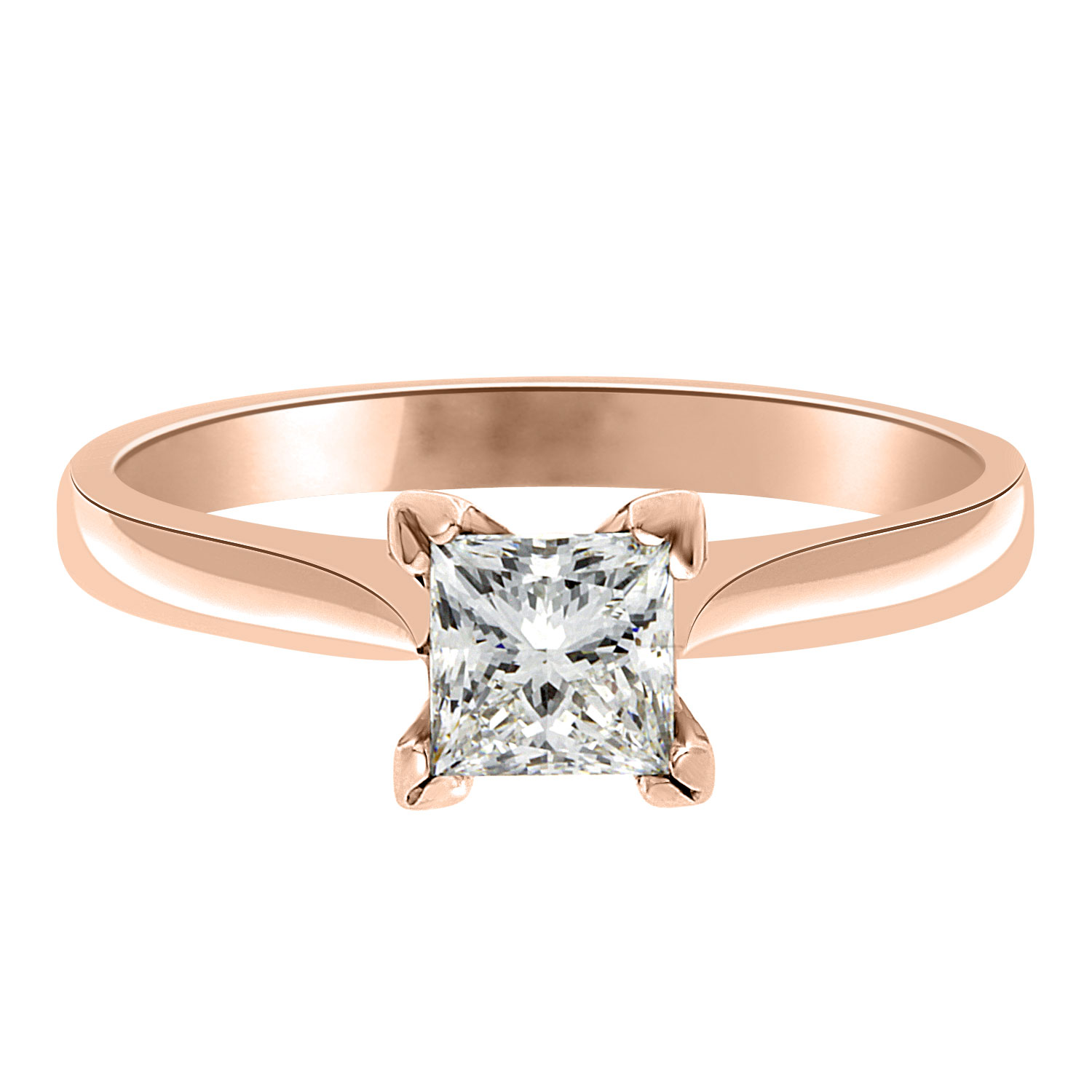 grace engagement ring princess cut engagement ring in