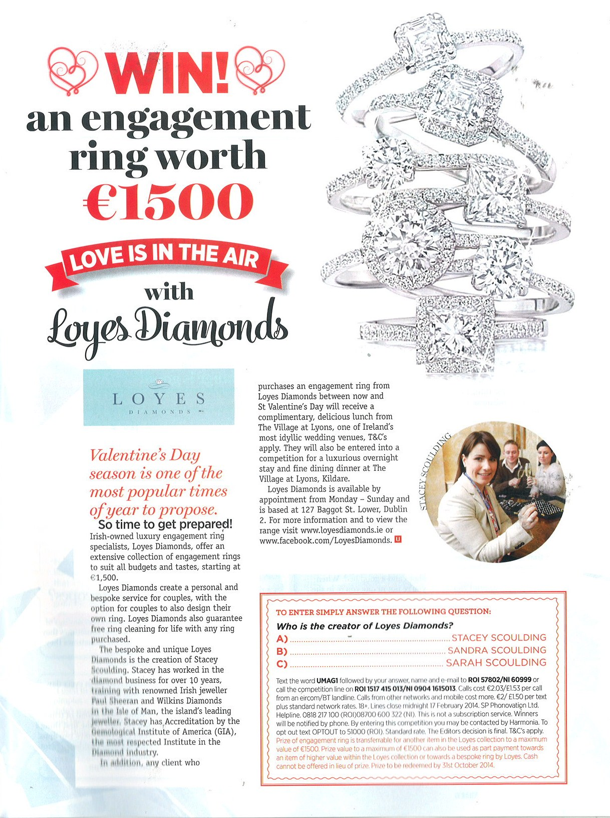 """U"" magazine – Engagement ring competition."