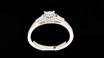 """Niamh"" Three Stone Diamond Engagement Ring"