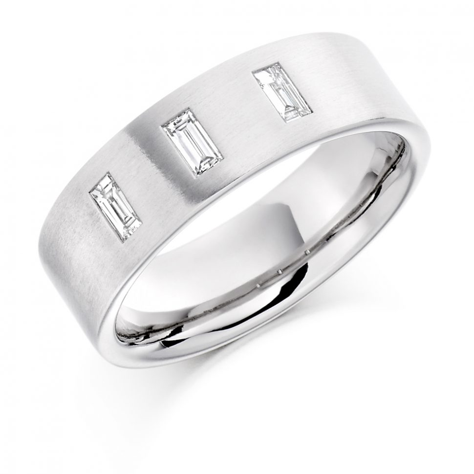 .30ct gents diamond wedding ring white gold