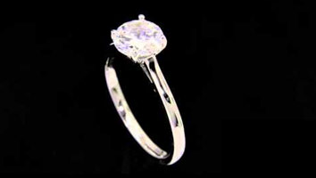 """Zoe"" Solitaire Diamond Engagement Ring"