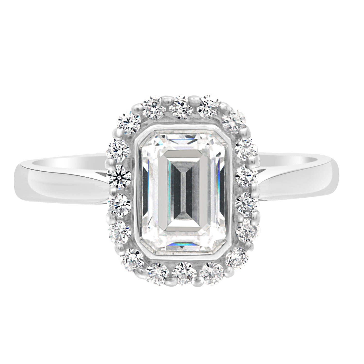 ay diamond emerald engagement in rectangle rings an white cut gold ring is monica