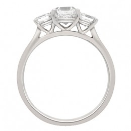 Three Stone Asscher Engagement Ring (Aisling 2)