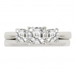 Three Stone Asscher Engagement Ring (Aisling 4)