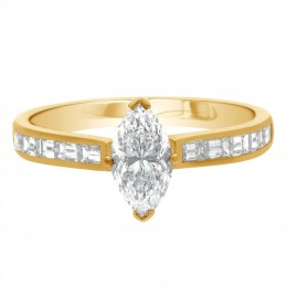 Ava DS 1(Yellow) engagement ring