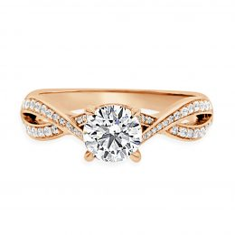 Twisted Band Engagement Ring Rose gold