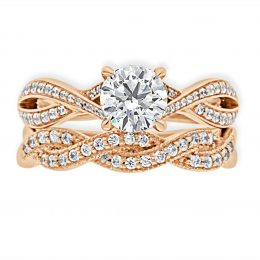 Twisted Band Engagement Ring rose gold (betsey 5)