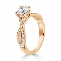 Betsey Engagement Ring angled view
