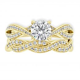 Betsey-Engagement-Ring-Yellow-gold-with-matching-wedding-ring