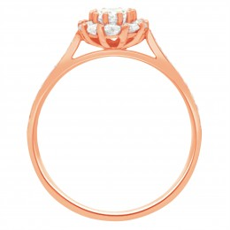 Diamond Cluster Engagement Ring 2 (Bridget ds) rose gold