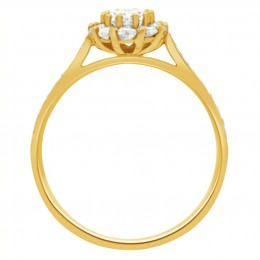 Diamond Cluster Engagement Ring 2 (Bridget ds) yellow gold