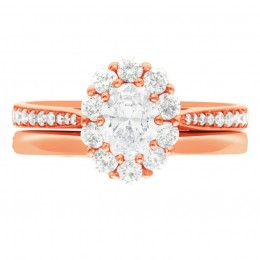 Diamond Cluster Engagement Ring 4 (Bridget ds) rose gold