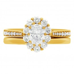 Diamond Cluster Engagement Ring 4 (Bridget ds) yellow gold