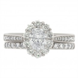 Diamond Cluster Engagement Ring 5(Bridget ds)