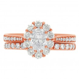Diamond Cluster Engagement Ring 5 (Bridget ds) rose gold