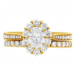 Diamond Cluster Engagement Ring 5 (Bridget ds) yellow gold