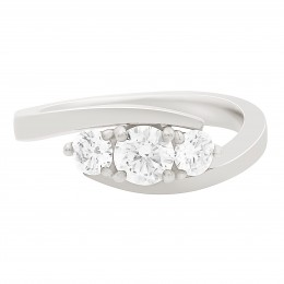 contemporary style engagement ring