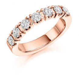 Castle Set Eternity ring rose gold