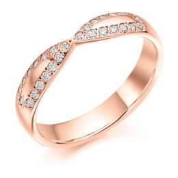 Criss Cross Wedding Ring (rose gold)