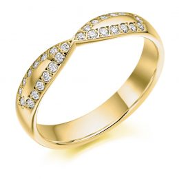 Criss Cross Wedding Ring (yellow gold)