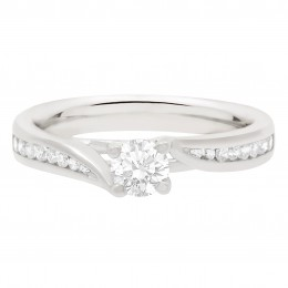 crossover band diamond ring