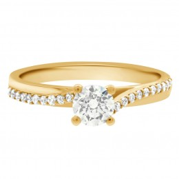 Deborah round 1(yellow)engagement ring