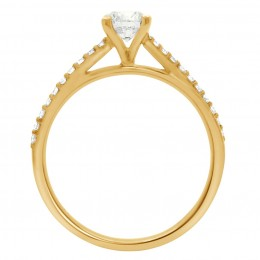 Deborah round 2(yellow)engagement ring