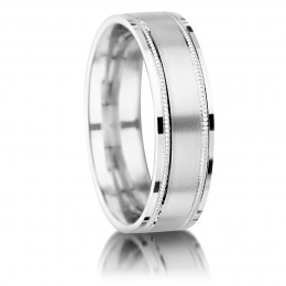 Matte Center Gents Wedding Ring