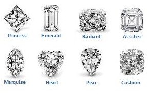 Engagement Rings With Unusual Shaped Diamond Cuts.