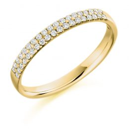 Double Scallop Set Ring (yellow gold)