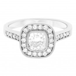 Elle 1 cushion cut engagement ring