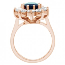 Dorothy sapphire engagement ring
