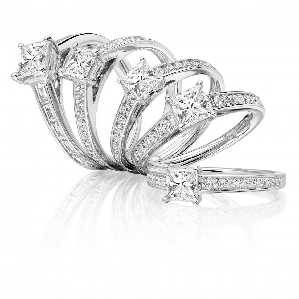 Fancy shape engagement rings