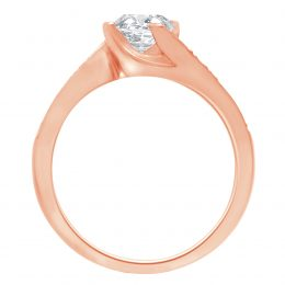 Four Claw Twist Engagement Ring rose gold (tess 2)