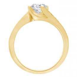 Four Claw Twist Engagement Ring yellow gold (tess 2)