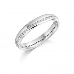 eternity ring, diamond ring, white gold