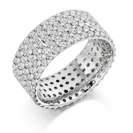 eternity ring, diamond ring,scallop set diamonds