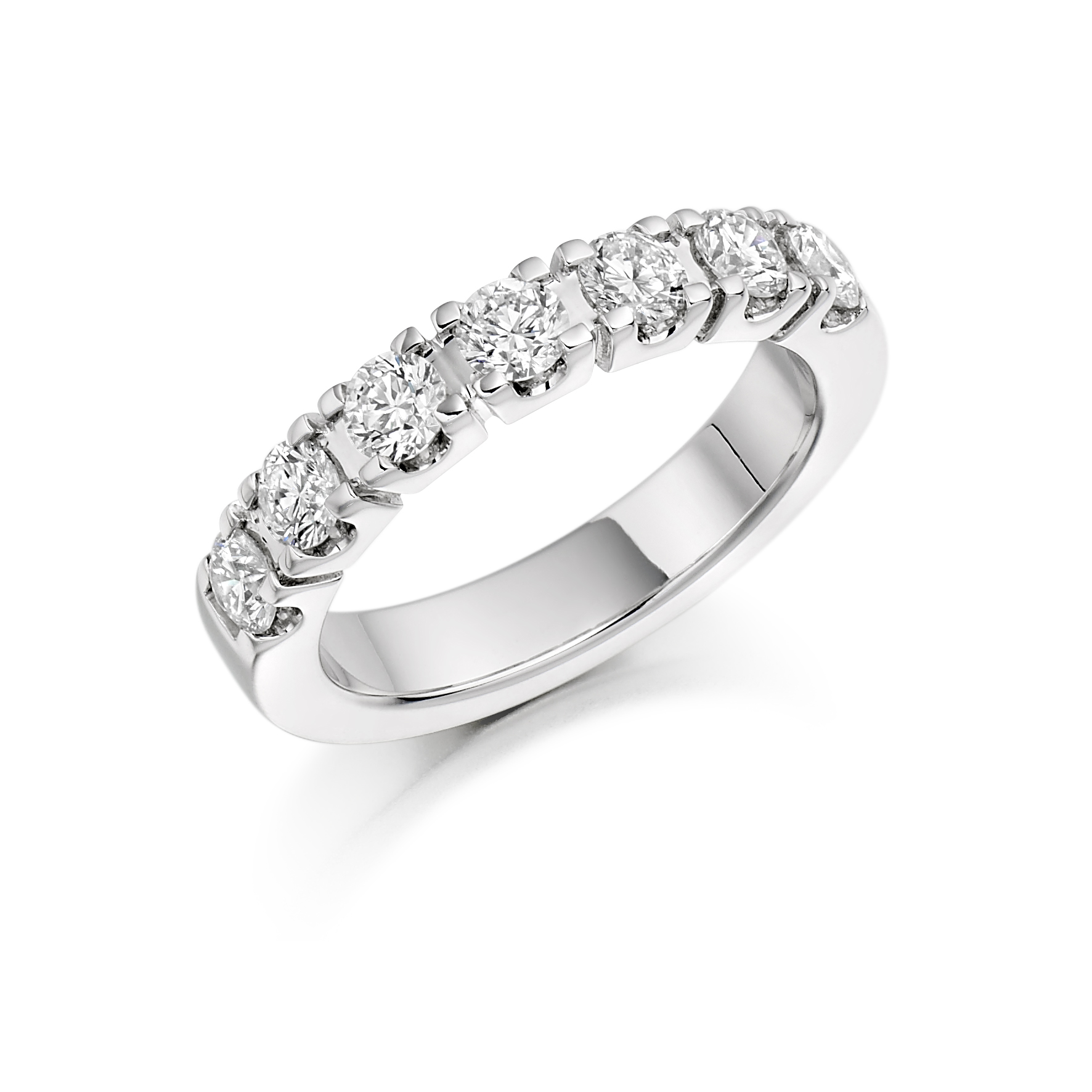 Castle Set Eternity ring