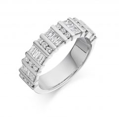 1.25ct eternity ring white gold