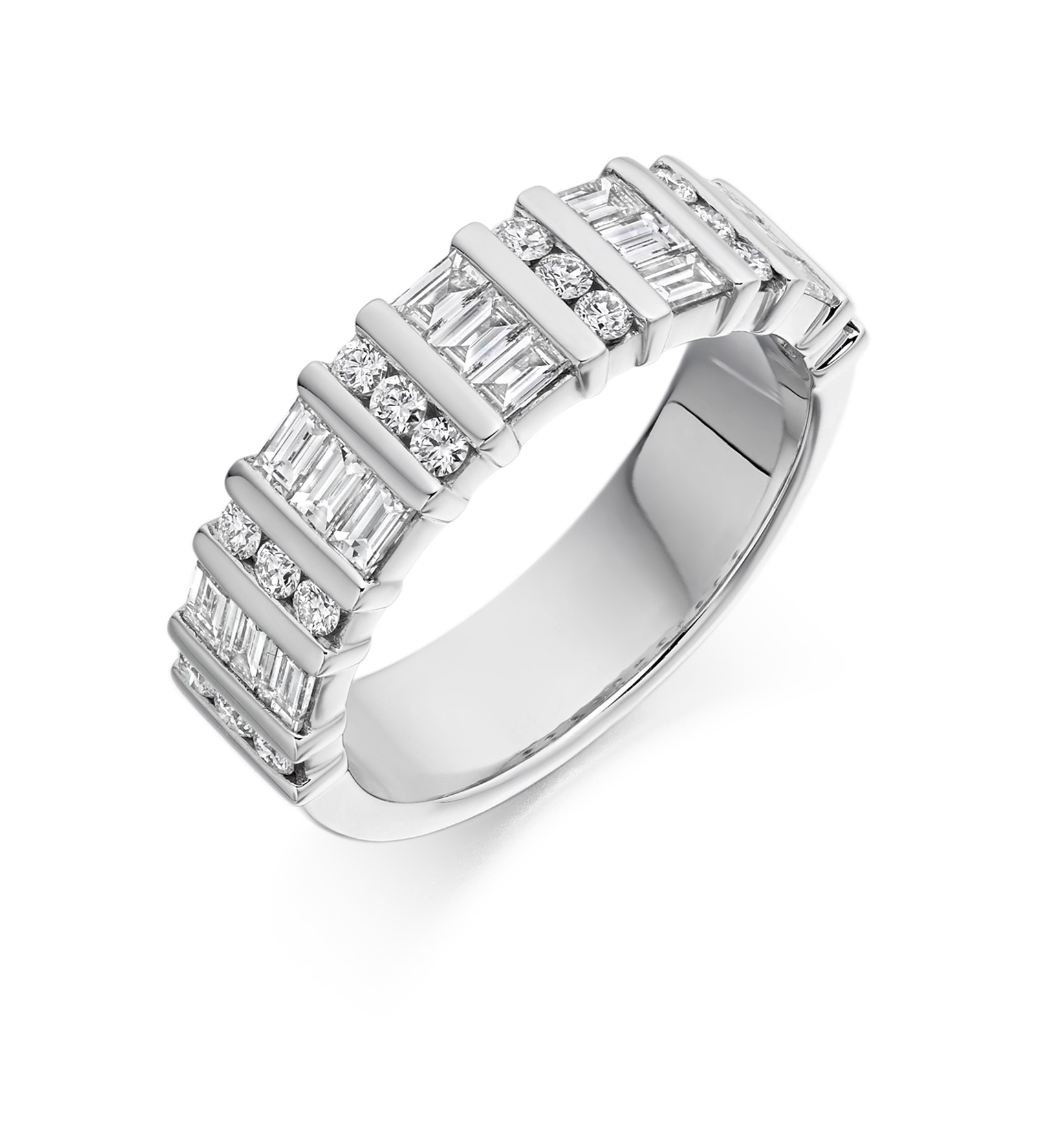 1.25ct Mixed Cut Eternity Ring