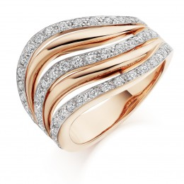 pretty eternity ring in rose gold