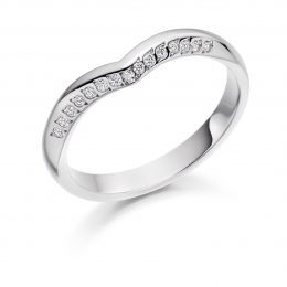 Unique Curved Wedding Ring
