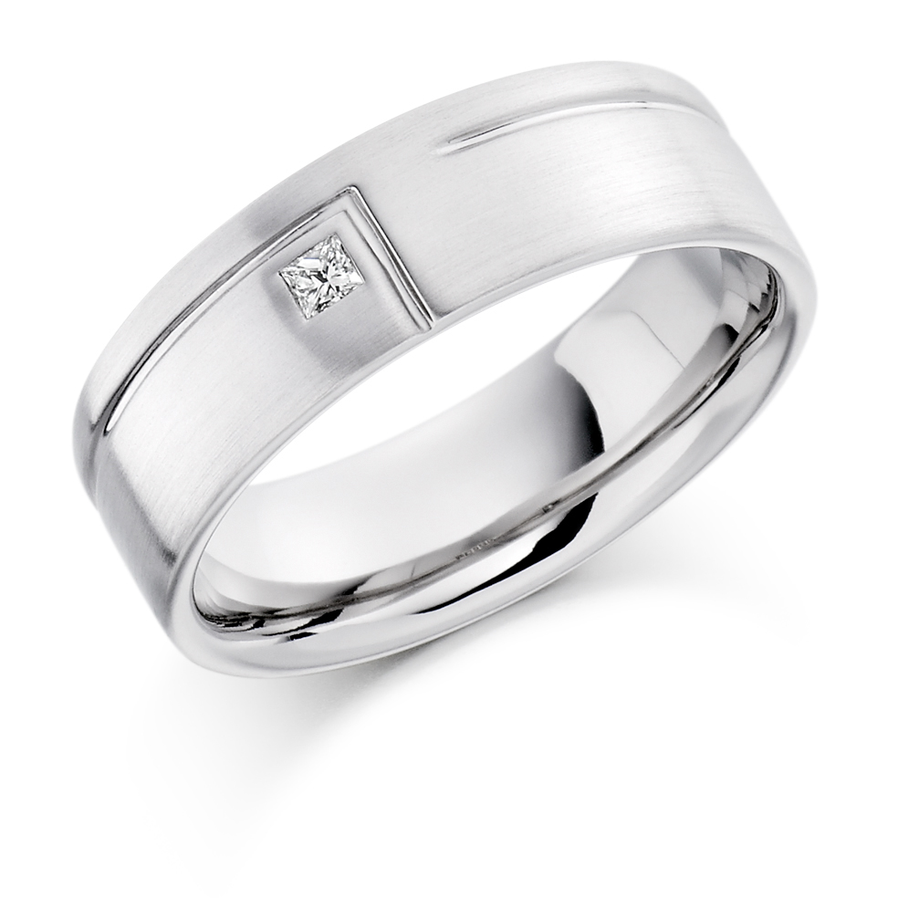 Gents Diamond Wedding Band