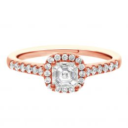 Asscher Diamond Ring - rose gold harriot asscher 1