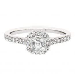 Asscher Diamond Ring - Harriot