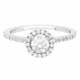 Round Halo Diamond Ring Harriot