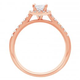 Asscher Diamond Ring - rose gold harriot asscher 2
