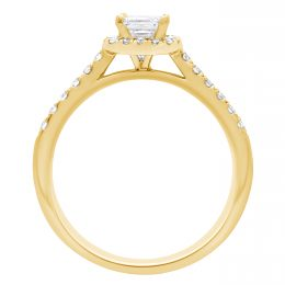 Asscher Diamond Ring - yellow gold harriot asscher 2