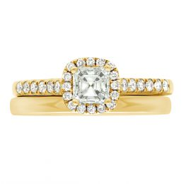 Asscher Diamond Ring - yellow gold harriot asscher 4