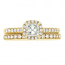 Asscher Diamond Ring - yellow gold harriot asscher 5